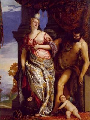 Paolo Veronese (Caliari) - Allegory of Wisdom and Strength c. 1580