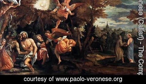 Paolo Veronese (Caliari) - Baptism and Temptation of Christ