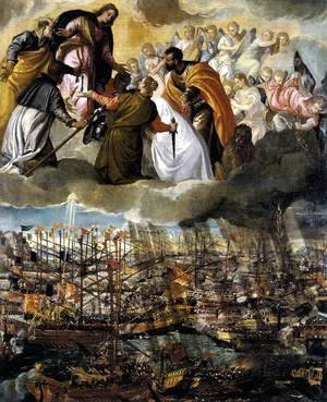 Paolo Veronese (Caliari) - Battle of Lepanto c. 1572