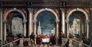 Paolo Veronese (Caliari) - Feast in the House of Levi 1573