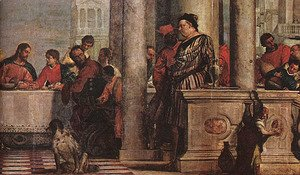 Paolo Veronese (Caliari) - Feast in the House of Levi (detail) 1573