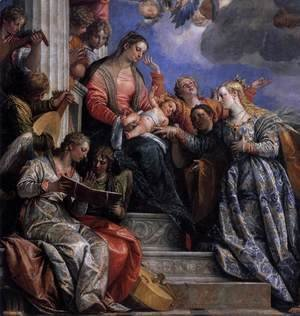 Paolo Veronese (Caliari) - Mystical Marriage of St Catherine (detail-1) c. 1575