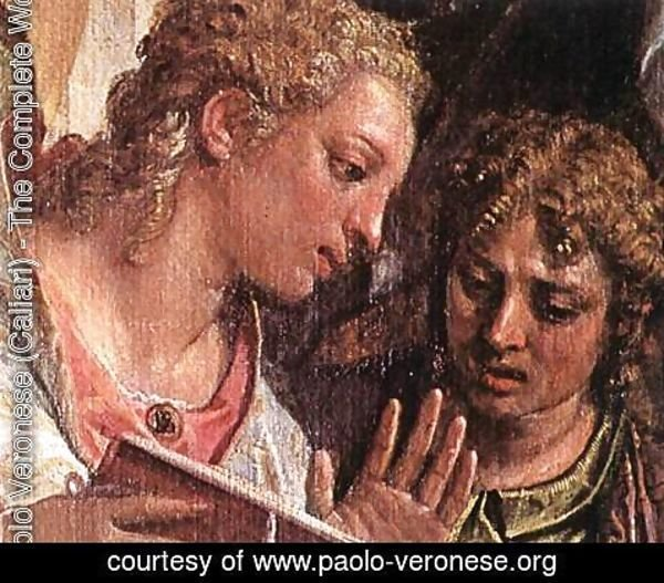 Paolo Veronese (Caliari) - Mystical Marriage of St Catherine (detail-2) c. 1575