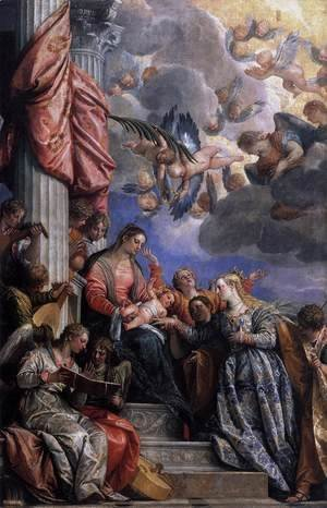 Paolo Veronese (Caliari) - Mystical Marriage of St Catherine c. 1575