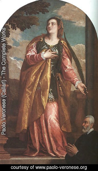 Paolo Veronese (Caliari) - St. Lucy and a Donor c. 1580