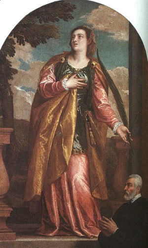 St. Lucy and a Donor c. 1580