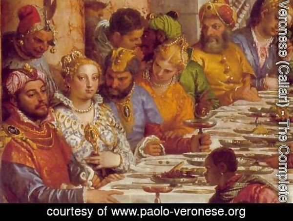 Paolo Veronese (Caliari) - The Marriage at Cana (detail-1) 1563