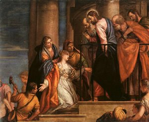 Paolo Veronese (Caliari) - Christ and the Woman with the Issue of Blood 1565-70