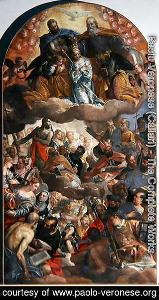 Paolo Veronese (Caliari) - Coronation of the Virgin, 1586
