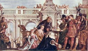 Paolo Veronese (Caliari) - The Family of Darius before Alexander the Great (356-23 BC) illustration from Lives of Great Men Told by Great Men, edited by Richard Wilson, c.1920s