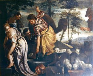 Paolo Veronese (Caliari) - Jacob at the Well