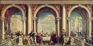 Paolo Veronese (Caliari) - The Feast in the House of Levi