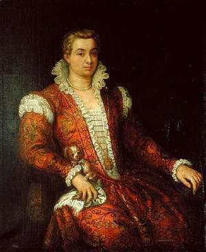 Paolo Veronese (Caliari) - Portrait presumed to be Livia Colonna