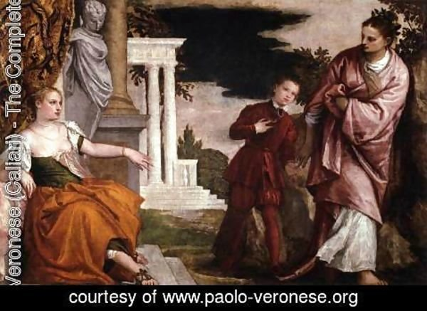 Paolo Veronese (Caliari) - A Young Man Between Virtue and Vice