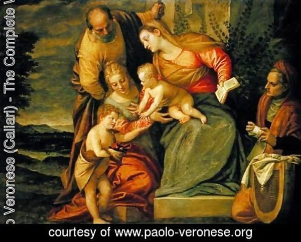 Paolo Veronese (Caliari) - The Holy Family with St. Elizabeth and John the Baptist