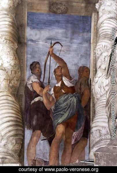 Paolo Veronese (Caliari) - Three Archers, detail from the Martyrdom of St. Sebastian