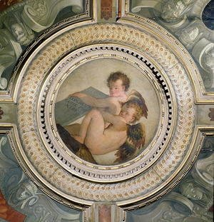Winged Putti, from the ceiling of the sacristy, 1555
