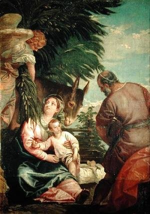 Paolo Veronese (Caliari) - Rest on the Flight into Egypt