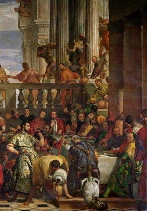 Paolo Veronese (Caliari) - The Marriage Feast at Cana, detail of the right hand side, c.1562