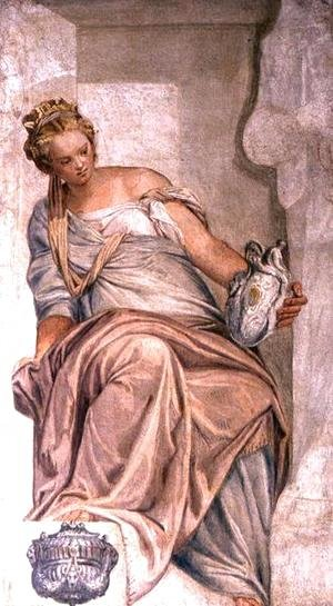 Paolo Veronese (Caliari) - Temperance, from the wall of the sacristy