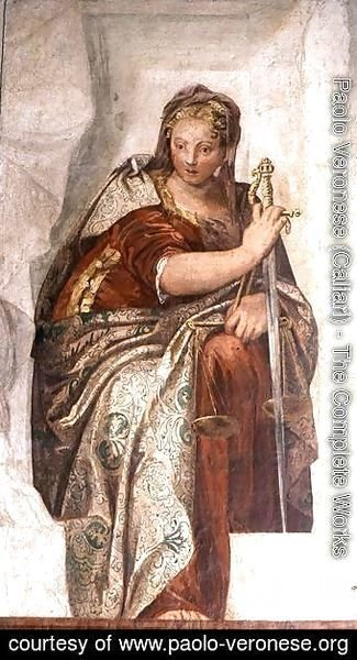 Paolo Veronese (Caliari) - Justice, from the walls of the sacristy