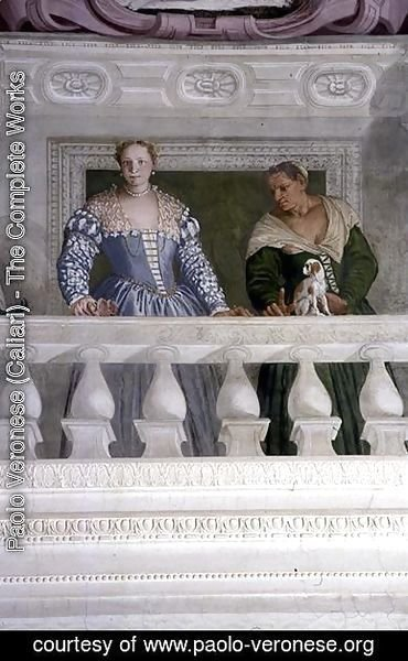 Paolo Veronese (Caliari) - Members of the Barbaro Household, from the Sala di Olimpo, c.1561