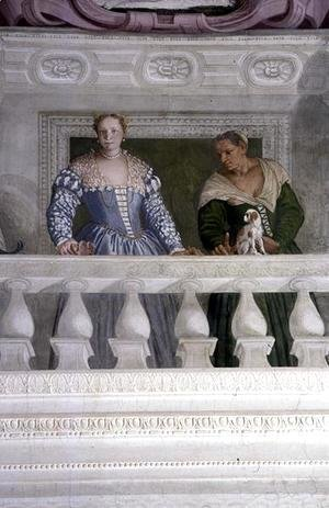 Members of the Barbaro Household, from the Sala di Olimpo, c.1561