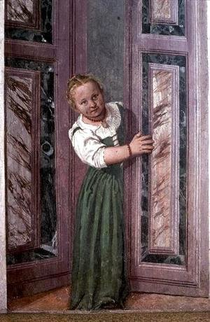Paolo Veronese (Caliari) - Child at the Door, from the Sala a Crociera, c.1561