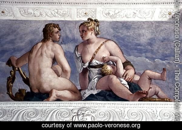 Apollo and Venus, from the Sala di Bacco, c.1561
