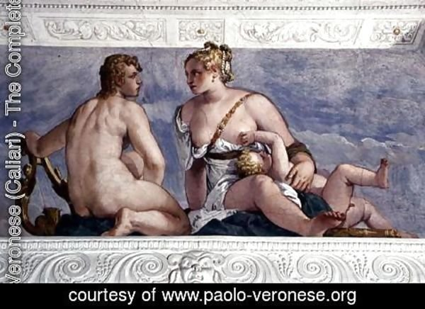 Paolo Veronese (Caliari) - Apollo and Venus, from the Sala di Bacco, c.1561