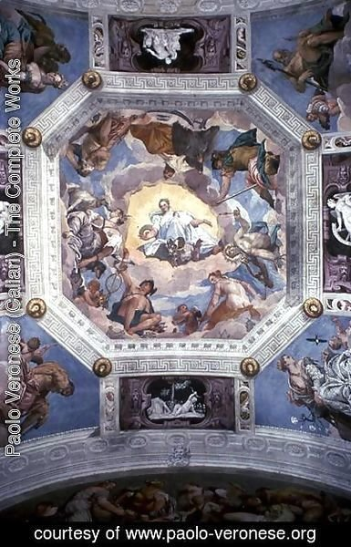 Universal Harmony, or Divine Love, from the ceiling of the Sala di Olimpo, c.1561