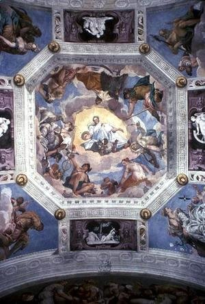 Paolo Veronese (Caliari) - Universal Harmony, or Divine Love, from the ceiling of the Sala di Olimpo, c.1561
