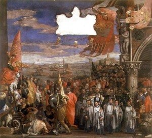 Paolo Veronese (Caliari) - The Doge Andrea Contarini Returning Victorious from Chioggia