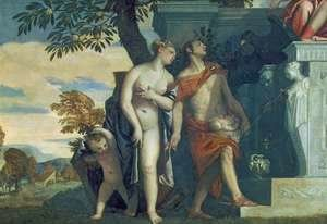 Paolo Veronese (Caliari) - Venus and Mercury presenting her son Anteros to Jupiter