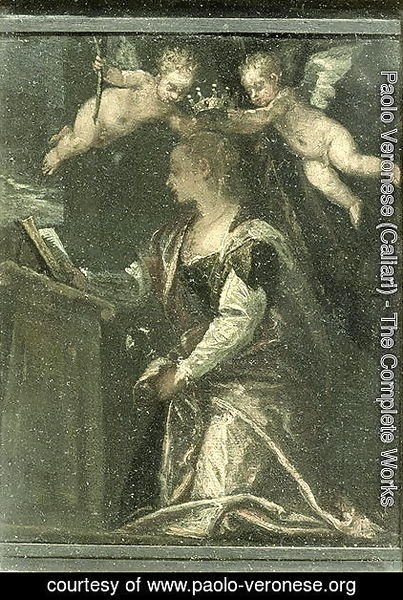 St. Agatha crowned by angels