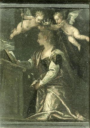Paolo Veronese (Caliari) - St. Agatha crowned by angels