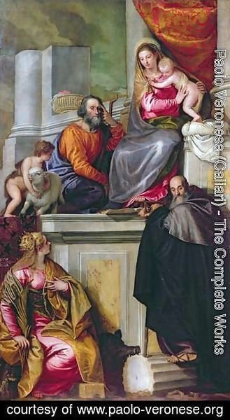 Paolo Veronese (Caliari) - The Holy Family with St. John the Baptist, St. Anthony Abbot and St. Catherine, 1551