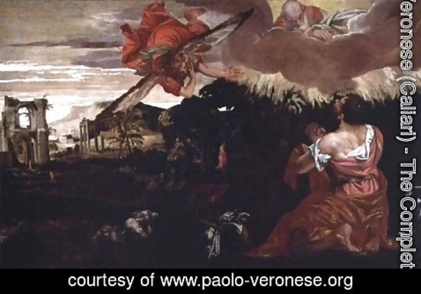 Paolo Veronese (Caliari) - Moses and the Burning Bush