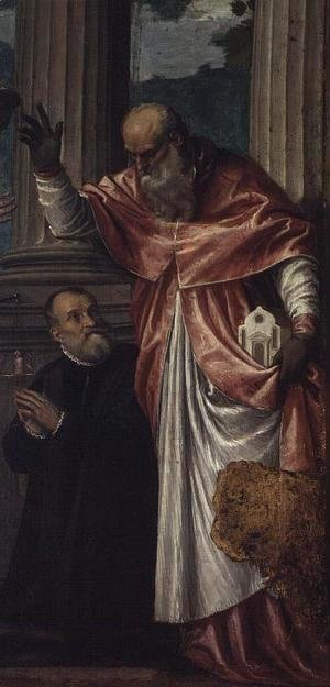 Paolo Veronese (Caliari) - St. Jerome and a Donor