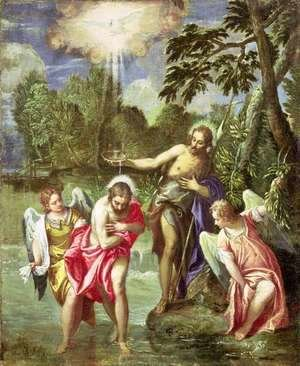 Paolo Veronese (Caliari) - The Baptism of Christ, c.1580-88