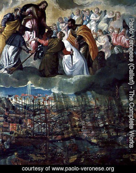 Paolo Veronese (Caliari) - Allegory of the Battle of Lepanto, 7th October 1571