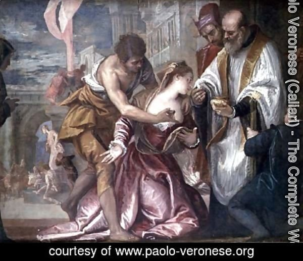 Paolo Veronese (Caliari) - The Martyrdom and Last Communion of St. Lucy