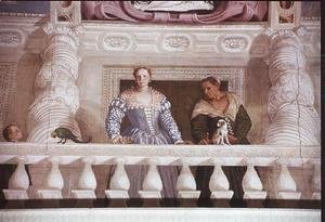 Paolo Veronese (Caliari) - Villa Barbaro. Lady and Nurse on the Balcony