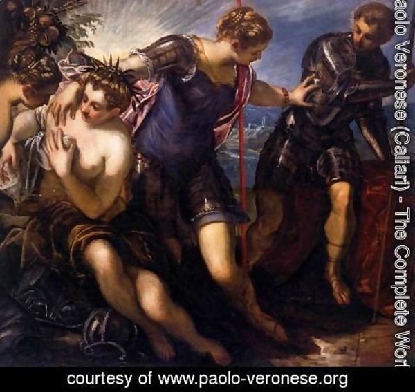 Paolo Veronese (Caliari) - Minerva Sending Away Mars from Peace and Prosperity