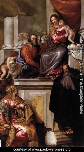 Paolo Veronese (Caliari) - Holy Family with Sts Anthony Abbot, Catherine and the Infant John the Baptist