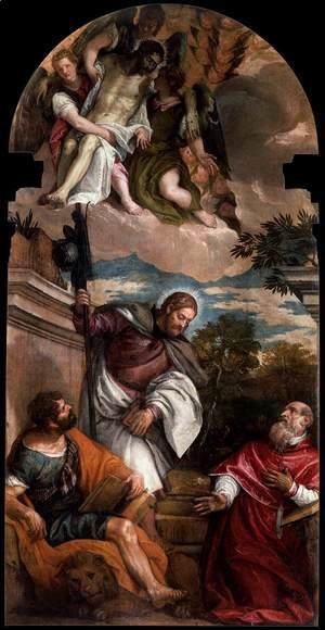 Paolo Veronese (Caliari) - Sts Mark, James and Jerome with the Dead Christ Borne by Angels