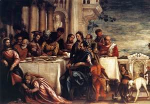 Paolo Veronese (Caliari) - Feast at the House of Simon (detail)