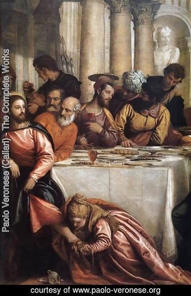 Paolo Veronese (Caliari) - Feast at the House of Simon (detail) 2