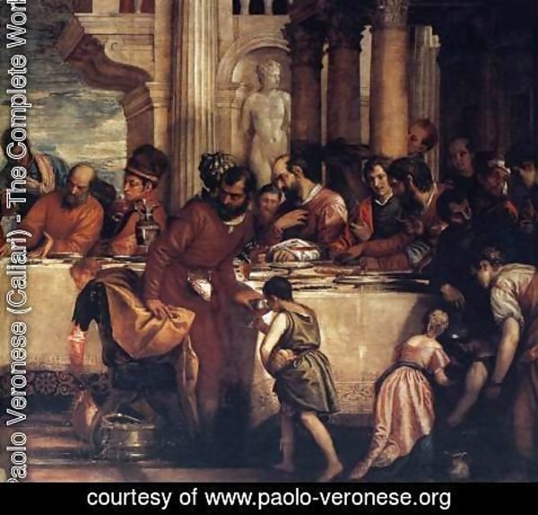 Paolo Veronese (Caliari) - Feast at the House of Simon (detail) 3