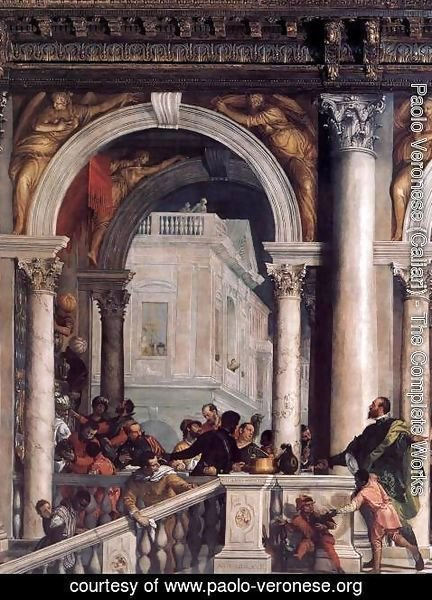 Paolo Veronese (Caliari) - Feast in the House of Levi (detail)